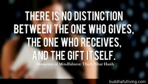 There is no distinction between the one who gives, the one who receives, and the gift itself.