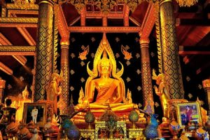 Thai Buddha Surrounded by Fire